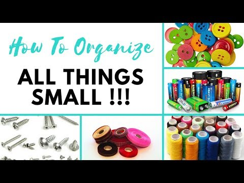 How To Organize Small Things-Tips, Ideas To Organize Batteries,Threads,Tools,Decorations,Ribbons etc
