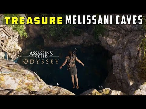 Location of Treasure Loots in Melissani Cave, Kephallonia - ASSASSIN'S CREED: ODYSSEY