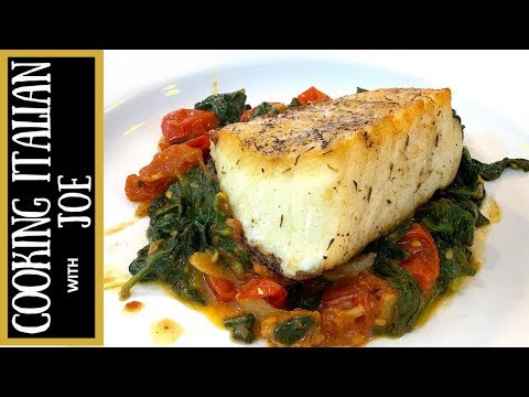 Seared Sea Bass With Tomatoes And Spinach | Cooking Italian With Joe