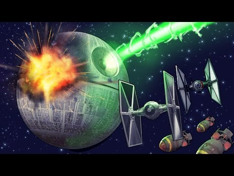 Minecraft   HOW MANY NUCLEAR BOMBS TO DESTROY THE DEATH STAR! (Star Wars)