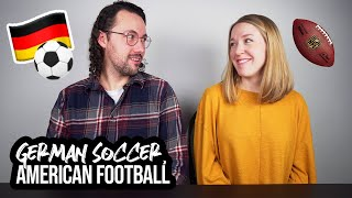 FIRST GERMAN SOCCER MATCH - HOW DOES IT COMPARE TO AMERICAN FOOTBALL?? (Unser erstes Fußballspiel)