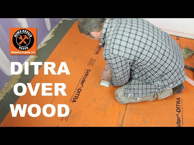 Install Ditra On A Wood Suloor Stop Ed Tiles 17 Steps With Pictures