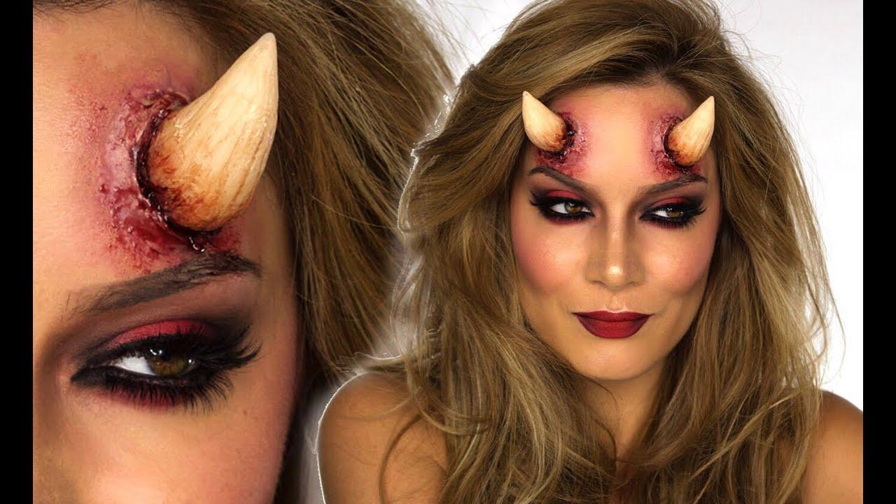 sexy devil halloween makeup tutorial shonagh scott showme makeup youtube - Devil Horns For Halloween