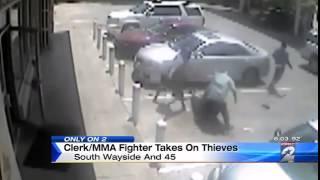 Видео   Банда грабителей нарвалась на бойца ММА   Видеоролики на Sibnet