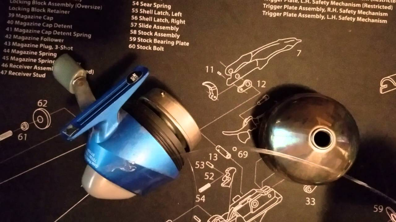 How to respool, restring or reline a push button fishing reel