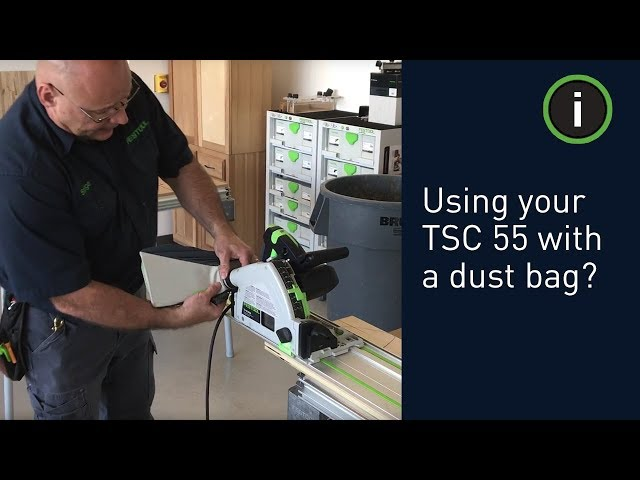 Festool Training: Should I use my TSC 55 with a dust bag or a CT Dust Extractor?