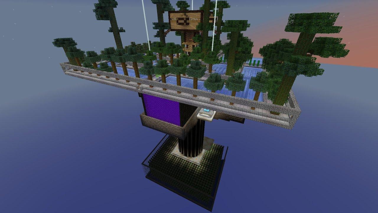 Skyblock island level over 9000