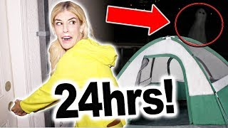 24 Hours On My Roof! Finding a REAL GHOST at 3am (Overnight)