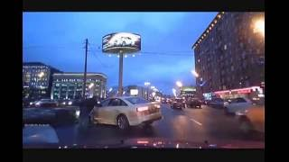 Crazy driving in Russia Audi A6, A7, Q7, TT, R8 / Crashes