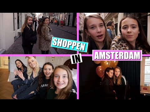 SHOPPEN IN AMSTERDAM EN NAAR PYJAMA PARTY VAN MONICA EN QUEEN OF JETLAGS!