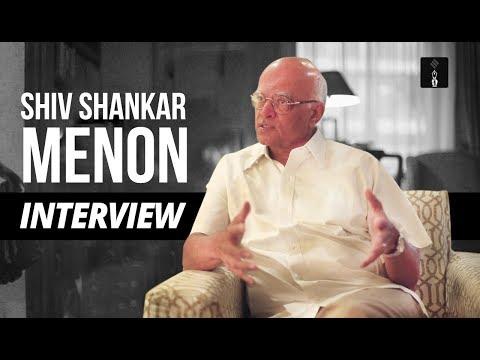 Interview With Shiv Shankar Menon