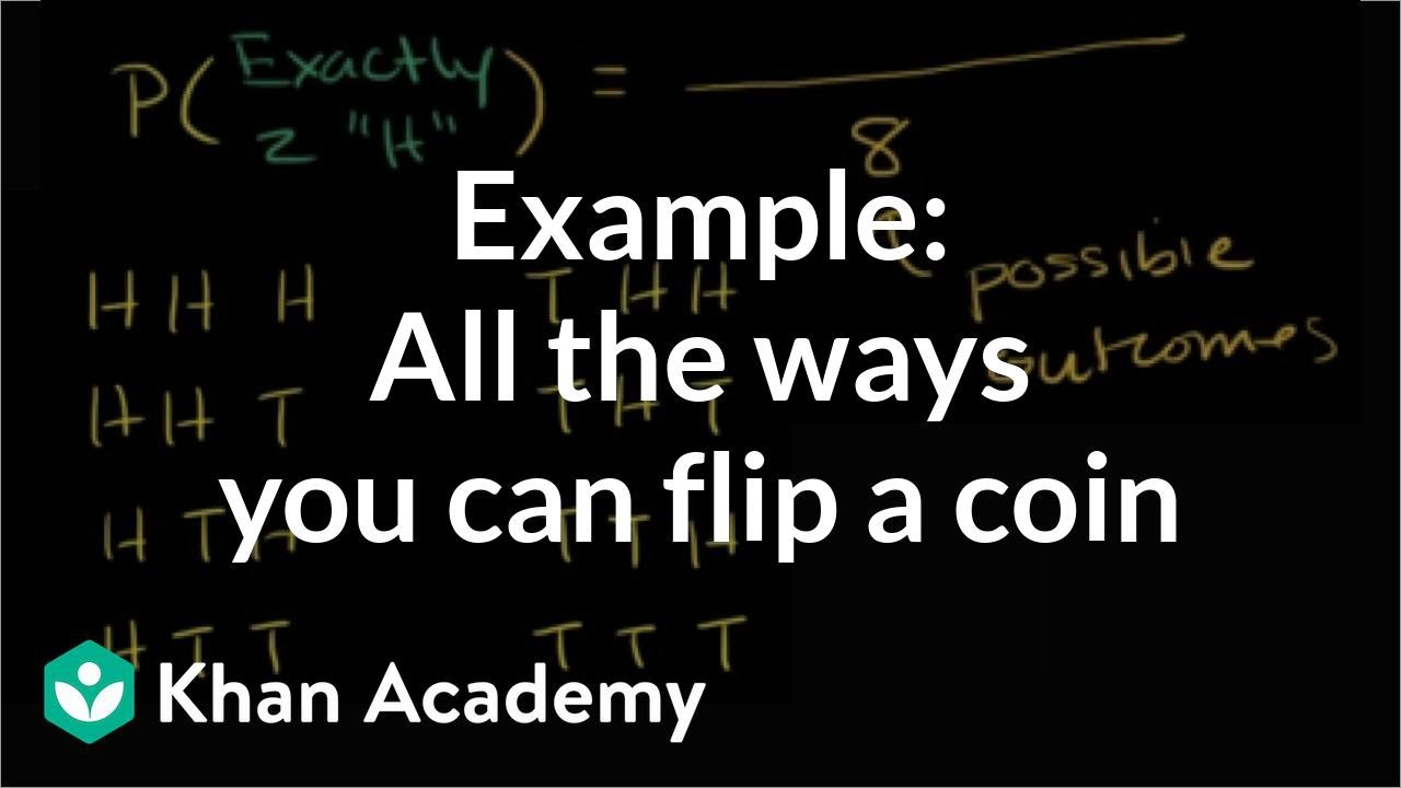 All the ways you can flip a coin | Probability (video) | Khan Academy