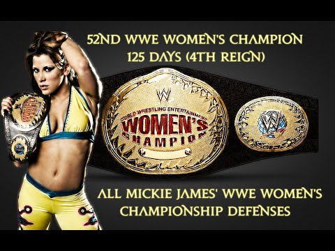 All Mickie James' WWE Women's Championship Defenses (4TH REIGN)