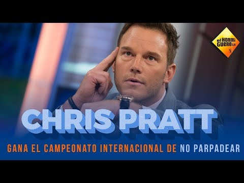 O actor Chris Pratt aguanta máis de seis minutos sen parpadear