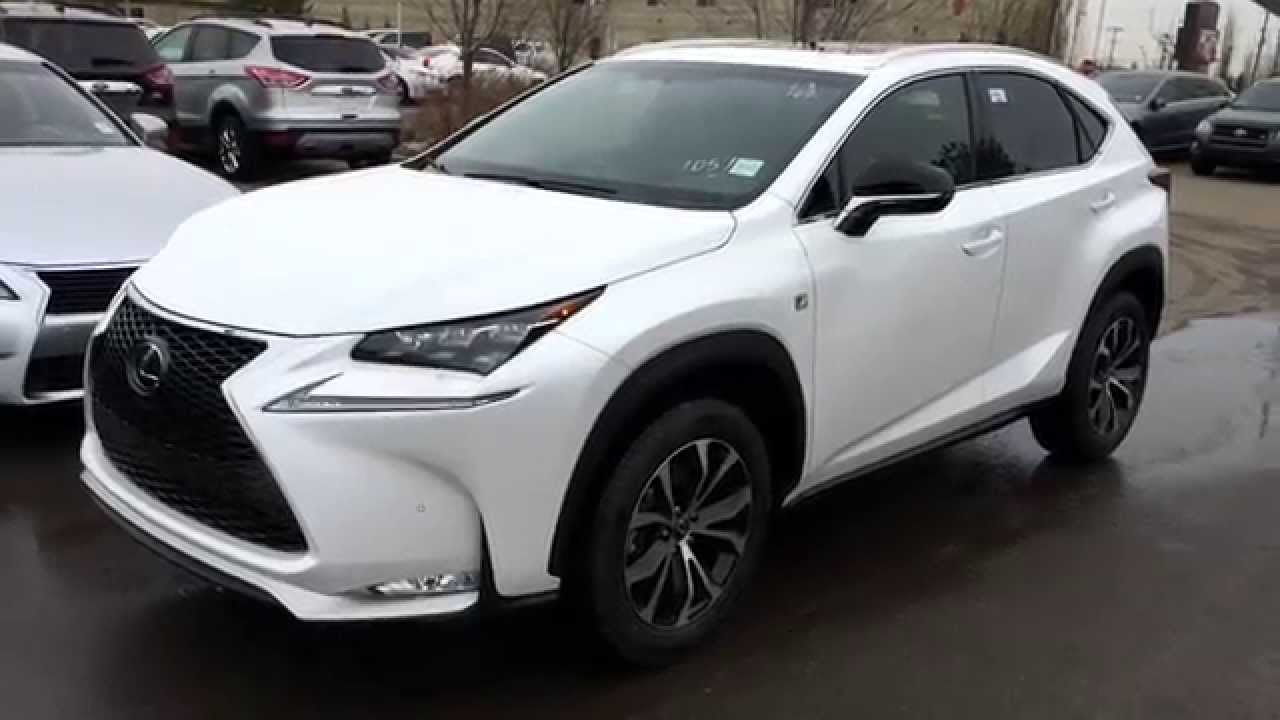 Lexus 200t F Sport >> New White 2015 Lexus NX 200t AWD - F Sport Series 1 In Depth Review - Downtown Edmonton ...