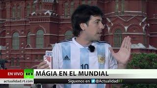 Reconocido ilusionista argentino presenta sus trucos ante las cámaras de RT en Moscú