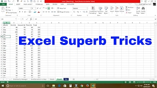 Excel super Tricks