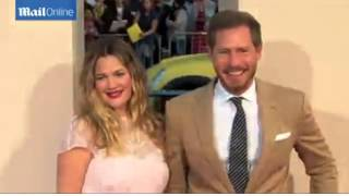Drew Barrymore, half sister of Jessica, at Blended premiere