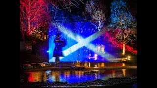 The Riverside Light Nights winter illuminations along river Tay by Perth City centre, January 2019