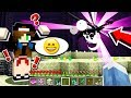 SHE **CRIED** when we FOUGHT the ENDERDRAGON! (Minecraft)