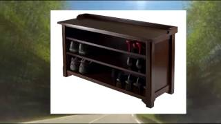 Winsome Dayton Storage Hall Bench With Shelves