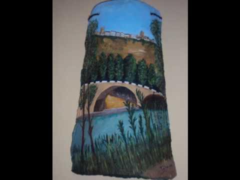 Tejas y cuadros pintados youtube - Pintar tejas de barro ...