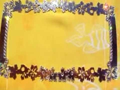Hibiscus Swarovski Crystallized Bling License Plate Frame Youtube