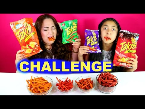TAKIS CHALLENGE!! EATING FUEGO XTREME SPICY CHIPS 4 Flavors  B2cutecupcakes