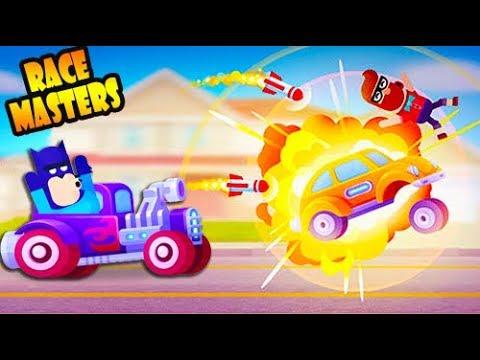 Безумные ГОНКИ на ВЫЖИВАНИЕ! Веселая игра Racemasters Сlash Of Cars от Cool GAMES