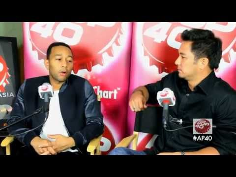 John Legend chats to Dom Lau & wins 2014 song of the year on Asia Pop 40