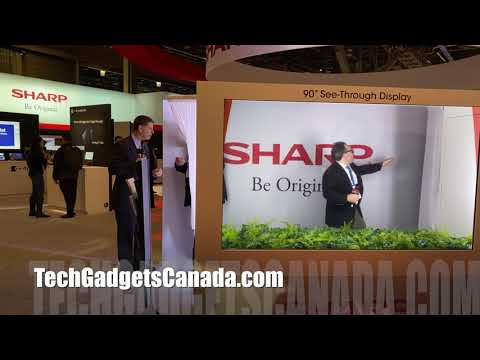 Sharp transparent TV: quickview from CES 2020