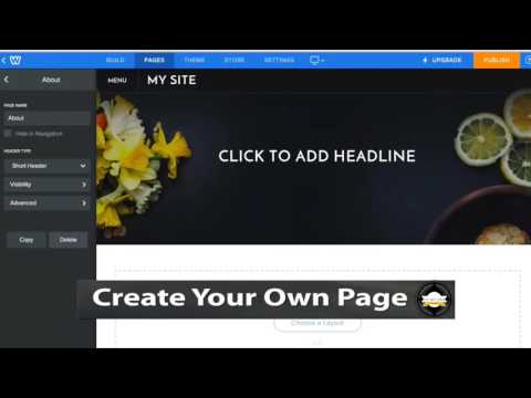Create Your Own Page