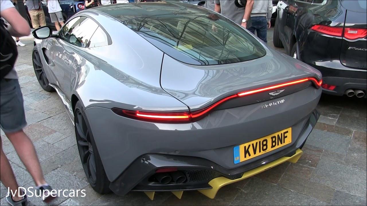 2018 Aston Martin Vantage Q W Sport Exhaust In Monaco Sound Youtube
