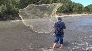 Рыбалка кастинговой сетью. Шашлык из Мирона