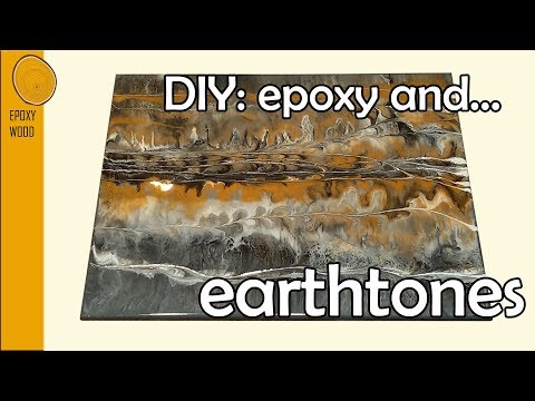 |9| DIY epoxy sample board - EARTHTONES 🌎