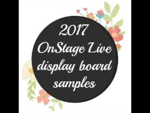 2017 OnStage Live in SLC Display Board sample projects