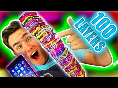 100 LAYERS of iPhone Cases
