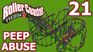 Peep Abuse (RollerCoaster Tycoon 3) - Part 21 - Inverted Coaster!