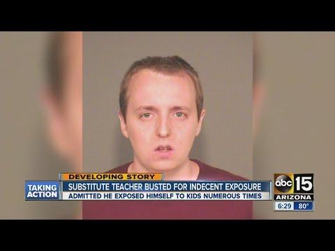 Substitute teacher arrested for indecent exposure