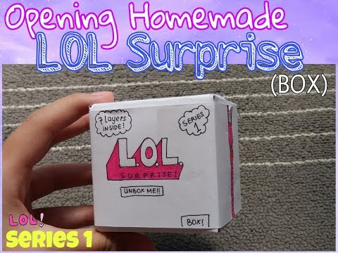 OPENING HOMEMADE LOL SURPRISE! | Inspired By: Wira Craft