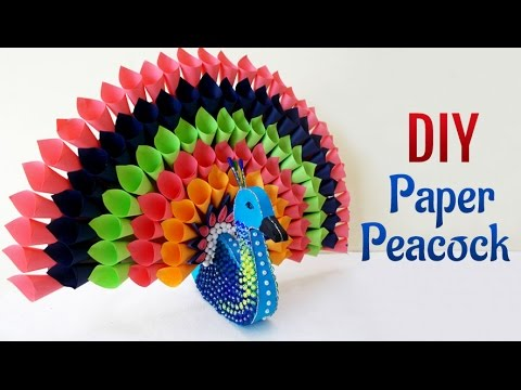 Diy paper craft projects how to make multicolored paper for Art and craft for home decoration with paper