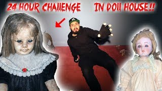 24 HOUR OVERNIGHT CHALLENGE IN THE HEADLESS DOLL HOUSE - WE CAUGHT SOMETHING ON CAMERA!