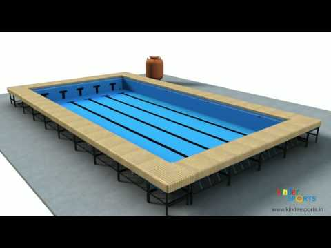 Portable swimming pool youtube for Portable pool