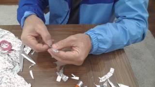 Çakmak, kibrit kullanmadan pil ve alüminyum folyo  ile ateş yakmak