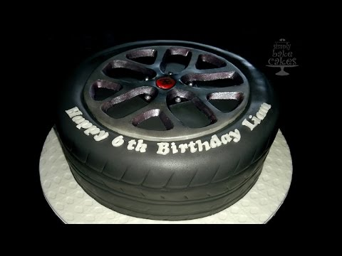 How To Make A Bugatti Tyre Cake Tutorial Youtube