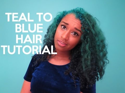 Teal To Blue Ombre Hair Tutorial OffbeatLook YouTube