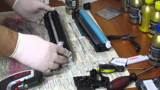 Заправка Картриджа CF210A 131A для HP LaserJet Pro 200 Color M251, M276(Видео как заправить чёрный картридж для HP CF210A 131A для HP LaserJet Pro 200 Color M251, M276 ..., 2013-11-15T19:08:25.000Z)