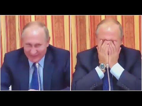 Menterinya Ingin Mengekspor Babi ke Indonesia, Putin Tertawa Sampai Menutup Wajah