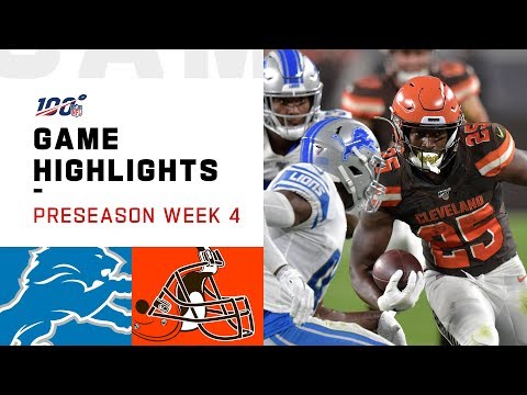Lions vs. Browns Preseason Week 4 Highlights | NFL 2019