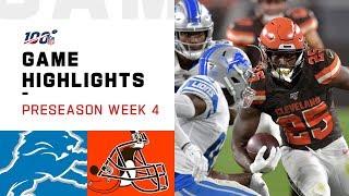 Lions vs. Browns Preseason Week 4 Highlights   NFL 2019